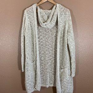 Cynthia Rowley Long Cardigan Hoodie Sweater